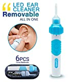 Electric Ear Cleaner, Ear Wax Vacuum, Ear Wax Removal Tool, Ear Vacuum Cleaner Easy Earwax Remover Soft Prevent Ear-Pick Clean Tools and LED Light with Two Spoons (S2)
