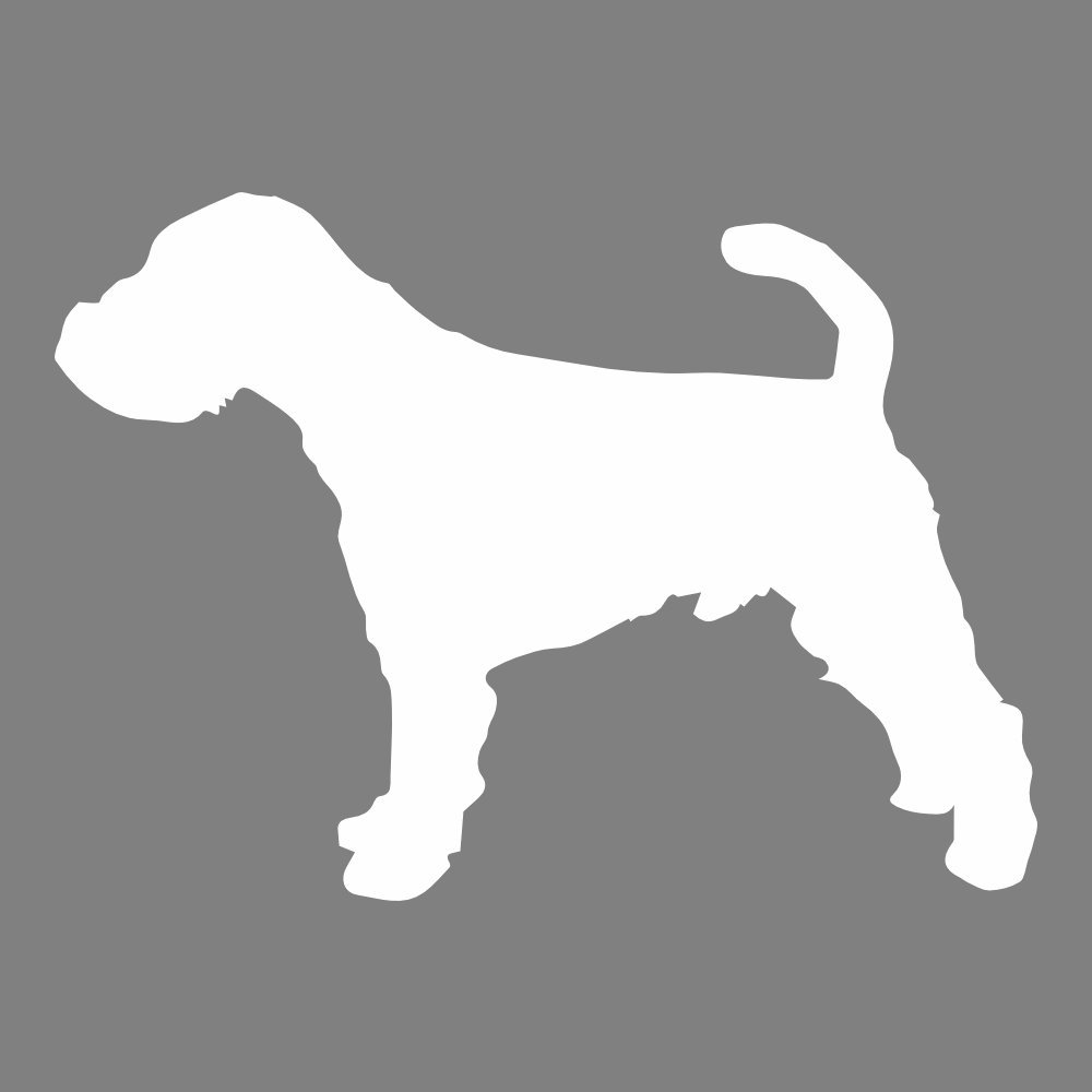Silueta de Terrier galés Etiqueta de la pared perro Tatuajes de ...