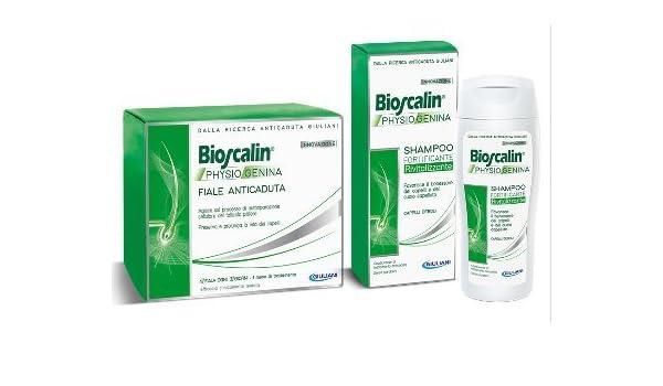 Bioscalin - Physiogenina - 10 ampollas anticaída + champú fortificante y revitalizante: Amazon.es: Belleza
