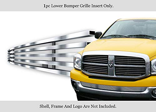 APS Stainless Steel 304 Billet Grille Grill Custome Compatible with 2002-2008 Dodge Ram Without Tow Hook Bumper