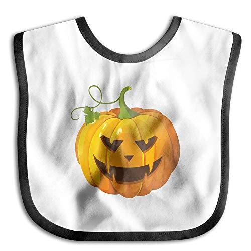 Halloween Pumpkin Clip Art Infant Drool Bibs - Soft And Hypoallergenic