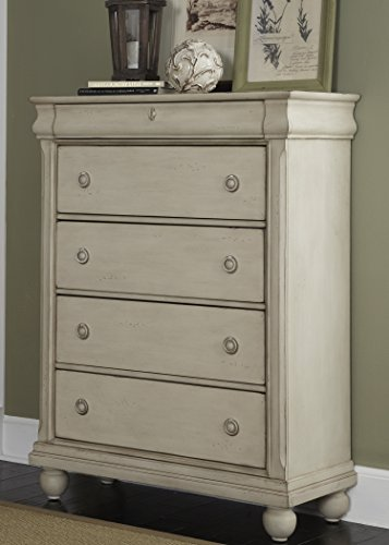 Liberty Furniture Rustic Traditions II Bedroom 5-Drawer Chest, Rustic White Finish ()
