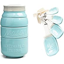 Mason Jar Ceramic Measuring Set: Cups and Spoons by World Market