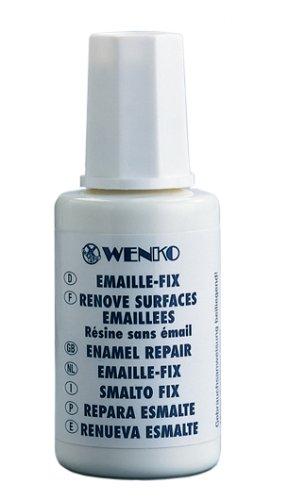 WENKO 5660515100 Emaille-Fix Lack - Lackreparatur mit Pinsel, Fassungsvermögen 0.02 L, Chemie, 2.8 x 7.5 x 2.8 cm, Weiß