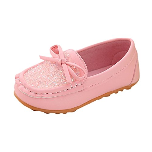 Moonker Girls Shoes 1-6 Years Old,Toddler Baby Girls Kids Crystal Princess Mary Jane Flat Shoes Wedding Dress Shoes (1-1.5 Years Old, Pink)