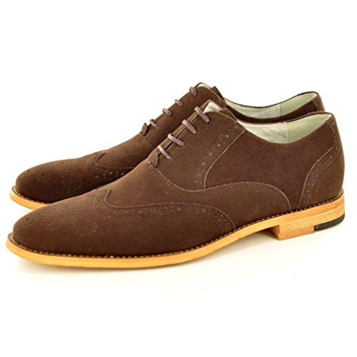My Perfect Pair - Zapato para hombre de color negro de talla uk tamaño 10 /eu tamaño 44 Gamuza marrón