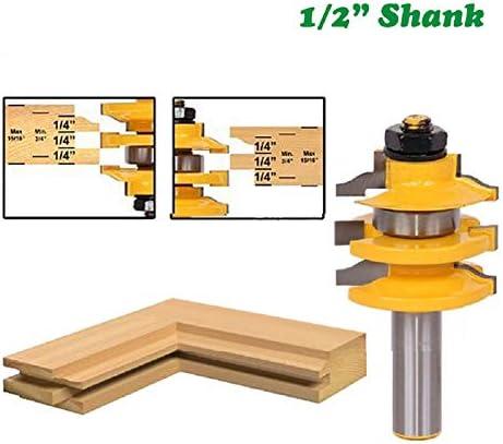 """12.7ミリメートル1個1/2"""" シャンクレール&踏み段オジールーターは、ビットウッドツール木工MC03108のためのテノンフライス切削積み上げ"""