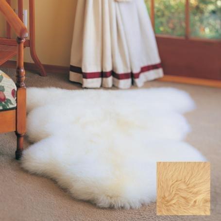 2x3 Longwool Sheepskin Single Rug (Ivory) (4
