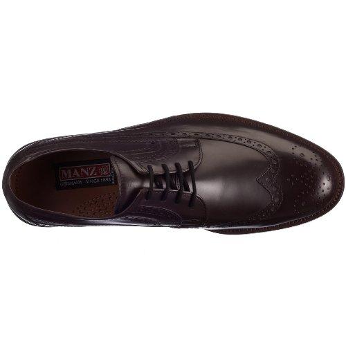 Modello Piquetto - 45 EU - Cuero Italiano Hecho A Mano Hombre Piel Rojo Zapatos Vestir Oxfords - Cuero Cuero Repujado - Encaje xO2TeA