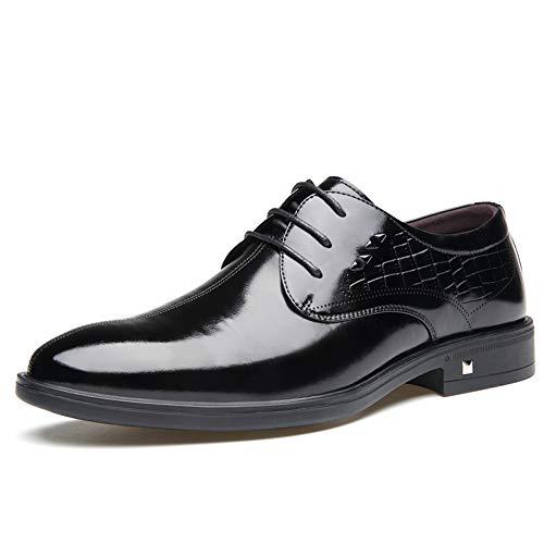 Noir 43 EU JDDRCASE Nouveau Style Oxford décontracté Confortable de Grande qualité, Chaussures Formelles à Lacets (Couleur   Noir, Taille   43 EU)