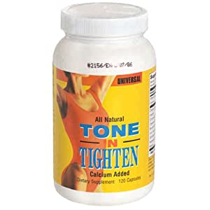 Universal Tone 'N Tighten Capsules with Calcium Added, 120 Count Bottle