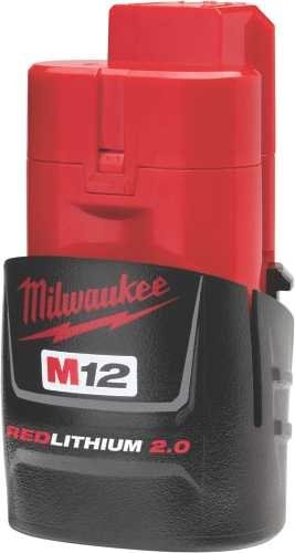 Milwaukee (2-Pack) 48-11-2420 M12 REDLITHIUM 2.0 Compact Battery Packs (Milwaukee Compact)