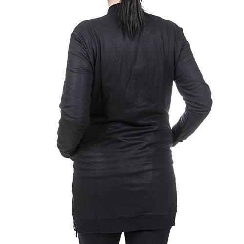 khujo - Jerséi - Manga Larga - para mujer P01 black coated