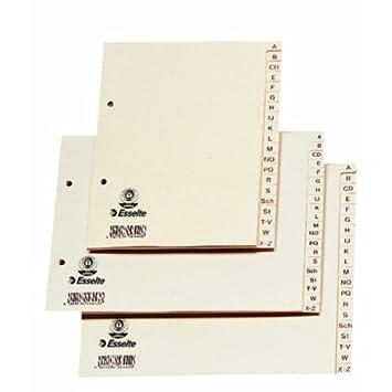 Leitz - Divisores para archivador (A-Z, tamaño A4, 20 hojas), color beige: Amazon.es: Oficina y papelería