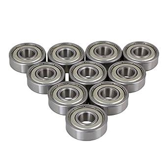 Pack de 10 rodamientos rígidos de bolas CNBTR 6000ZZ, acero ...