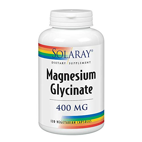 - Solaray Magnesium Glycinate Dietary Supplement, 400 mg per 4 Capsules, 120 Count