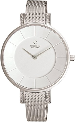 OBAKU watch two stitches rhinestone V158LECIMC Ladies