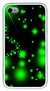 iPhone 4 4s Cases & Covers - Green Starry TPU Custom Soft Case Cover Protector for iPhone 4 4s - White