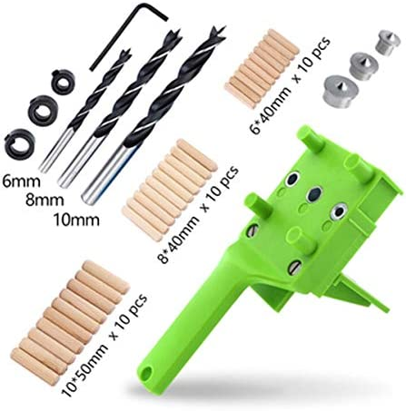 Carpentry position fixture 1/8/41PCS Woodworking Dowelling Jig Set Drill Guide 6/8/10MM Sleeve Wood Doweling Tool Handheld (Size : #1)