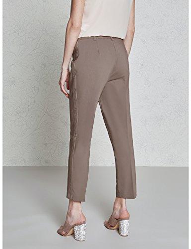 Pantaloni laterali a profili Oltre con sigaretta Marrone Size Italian 6w7zWqdW