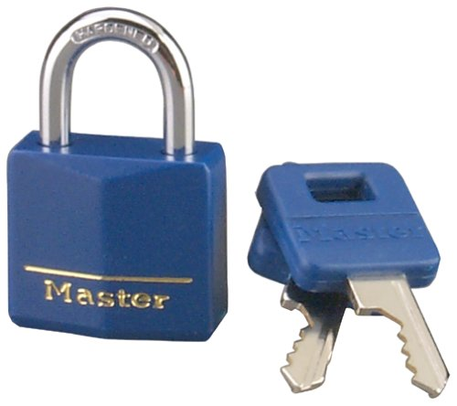 Master Lock 1 3/16″ Covered Brass Blue 1-Pack