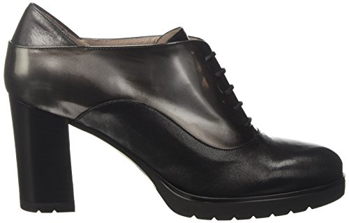 Negro Melluso Fox Mujer nero Para Plataforma Con L5221 Zapatos nero wqxYq1RSP