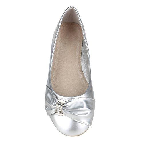 ... Klassische Damen Ballerinas Ballerina Schuhe Gummizug Basic Flats  Slipper Leder-Optik Übergrößen Gr. 41 5ab4f8cf9f