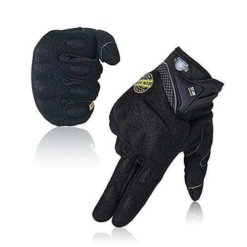 Motorrad-Handschuhe, volle Finger, atmungsaktiv, Touchscreen-Handschuhe für den Sommer