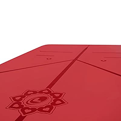 Liforme Love Yoga Mat - The World's Best Eco-Friendly, Non Slip Yoga Mat with The Original Unique Alignment Marker System. Biodegradable Mat Made with Natural Rubber & A Warrior-Like Grip (Red)