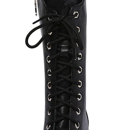 Heels 40 High Donna Natale Spesso 36 Givekoiu Alti Tacchi 6 Autunno Scarpe Nero Elegante Stivali 5cm Fondo Regalo Inverno awxfPvq