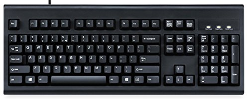 Perixx PERIBOARD-106 US B, Performance Wired Keyboard - 20 Million Key Press Life - Full Size 17.9