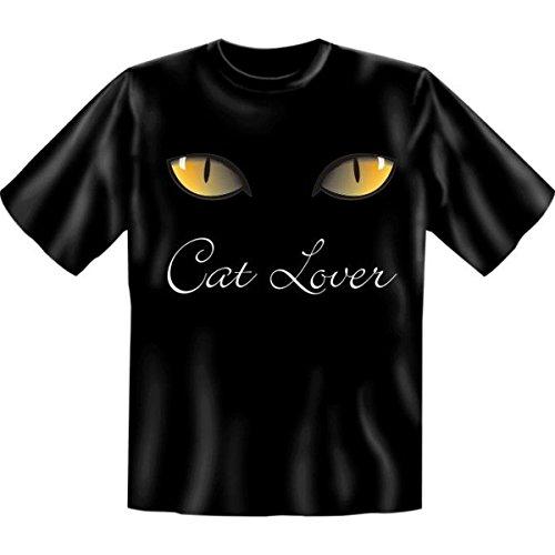 Fun T-shirt Cat lover Fb schwarz