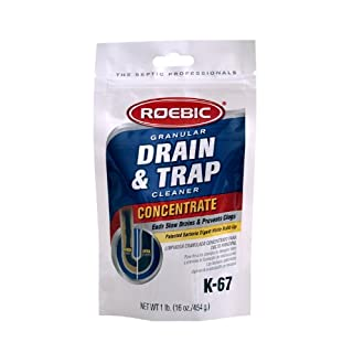 Roebic K-67BAG-16 OZ Biodegradable Granular Drain & Trap Cleaner Ends Slow Drainage and Prevents Clogs