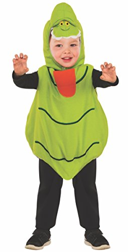 [Rubie's Baby's Classic Ghostbusters EZ-On Slimer Romper Costume, Green, 2T] (Childrens Ghost Costume)