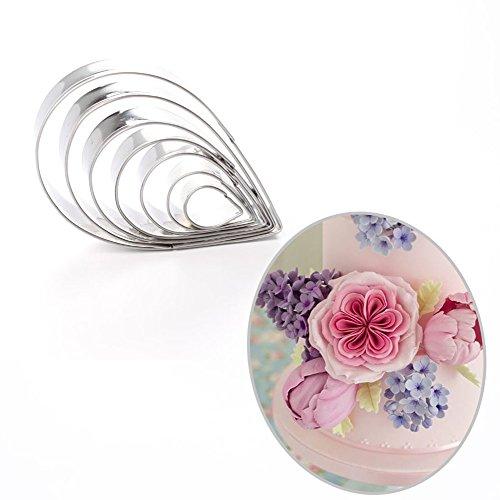 7pcs Rose Petal Cutter Set Gum Paste Fondant Cake Cutters