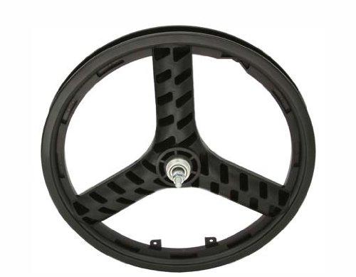 "20"" Plastic 3-Spoke Free Wheel Black. Bicycle wheel, bike wheel, Lowrider bike wheel, lowrider bicycle wheel, chopper, cuiser, bike part, bicycle part"