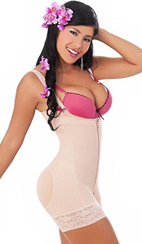 Salome 0215 Butt Lifter Body Shaper Women Faja Colombiana Levanta Cola Strapless Beige 3XL