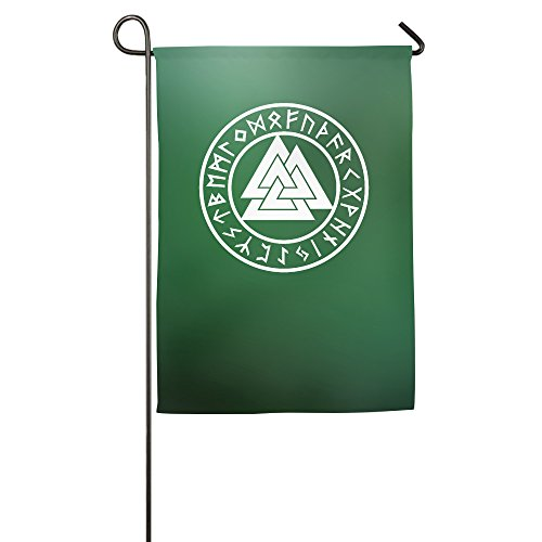 [Viking Valknut Rune Circle Garden Flag] (Welcome To The Black Parade Costume)