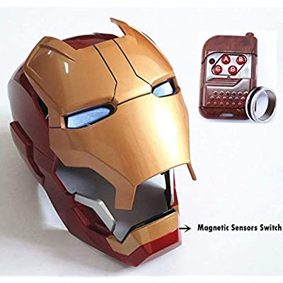 Gmasking Electronic Open/Close MK42 Wearable Helmet 1:1 Cosplay Props Replica (No Included Batteries): Toys & Games