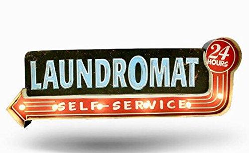Cartel Laundromat vintage Letrero metálico luminoso ...