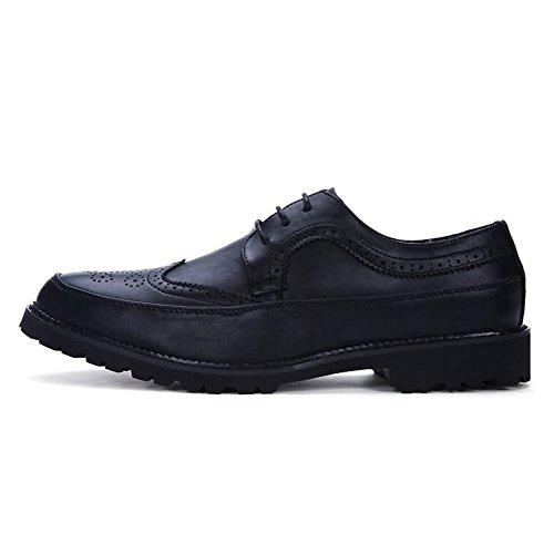 Xujw Nero uomo piatto con dimensione tacco Colore pelle in Scarpe lavoro stringate in 2018 Scarpe shoes da PU 43EU Nero pelle basse da oxford rwnzRrqxZ1