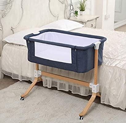 Amazon Com Baby Cot Multifunctional Newborn Solid Wood Bedside Bed