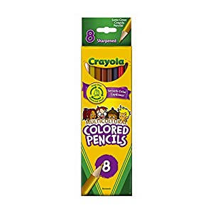 Crayols skin tone colored pencils