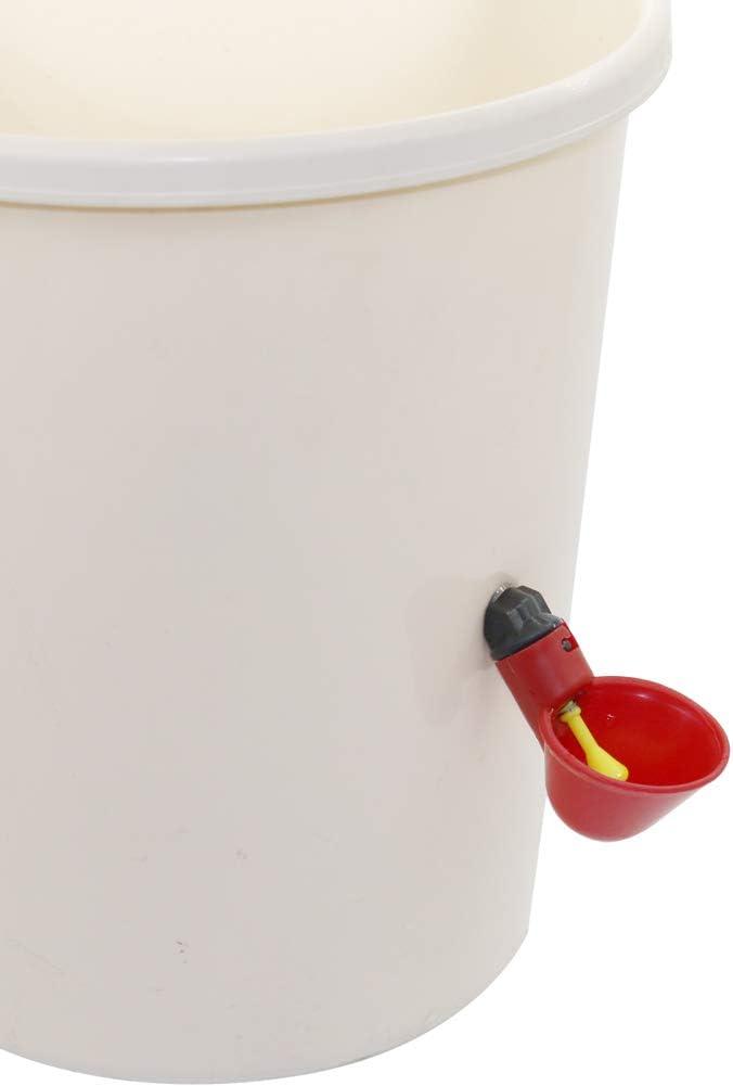 Adhere To Fly 10 St/ücke Einfache Installation Kunststoff Automatische Trinker Huhn Trinkbecher Gefl/ügel Brunnen Waterer