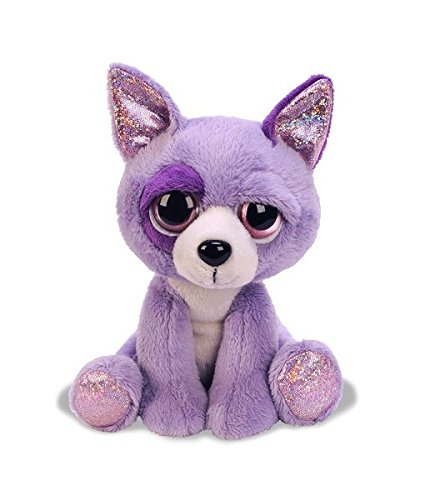 Suki Gifts Lil Peepers Fun Salsa Chihuahua Dog Plush Toy with Pink Sparkle Accents (Medium, Purple) (Lil Chihuahua)
