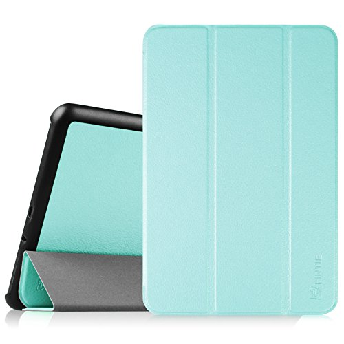 Fintie Samsung Galaxy Tab A 8.0 (2015) Case, Ultra Lightweight Protective Slim Shell Stand Cover with Auto Sleep/Wake Feature for Tab A 8.0 SM-T350 2015 Release (NOT fit 2017 Tab A 8.0), Blue