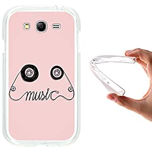Funda Samsung Galaxy Grand Neo, WoowCase [ Samsung Galaxy Grand Neo ] Funda Silicona Gel Flexible Cinta de Musica, Carcasa Case TPU Silicona - Transparente