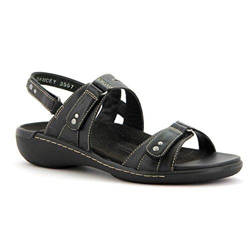 Ziera Banner Sandal (42 W, Black) (Ziera Shoes)