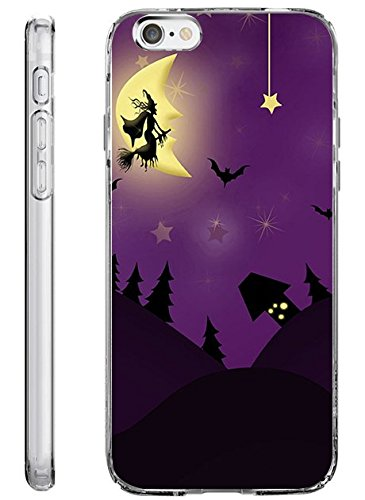 iPhone 6s / 6 Plus Hard Shell Case 5.5 Inch Ultra Slim Thin Halloween Witch -