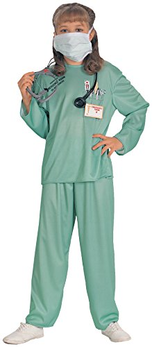 [Child's E.R. Doctor Costume] (Emergency Services Fancy Dress Costumes)